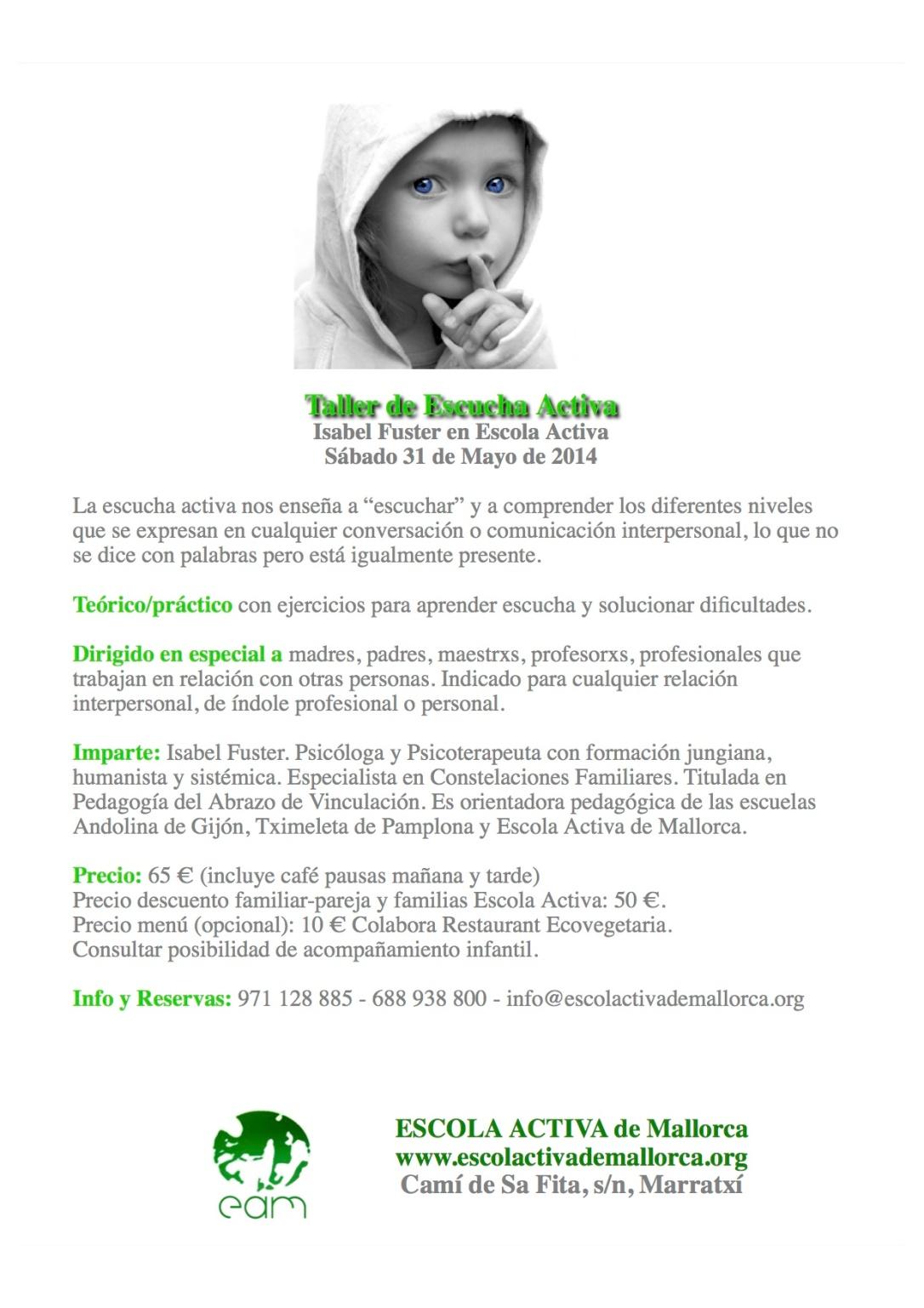 Taller Escucha Activa, Mallorca, 31 de mayo
